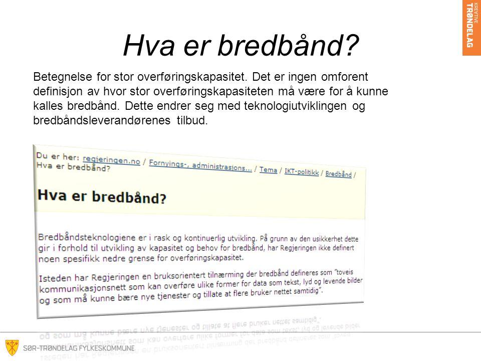 Hva er bredbånd
