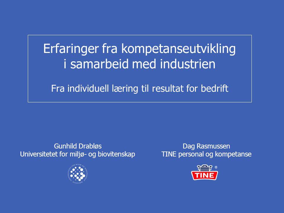 Dag Rasmussen TINE personal og kompetanse