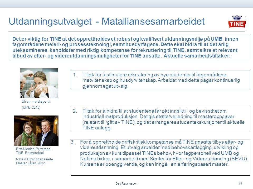 Utdanningsutvalget - Matalliansesamarbeidet