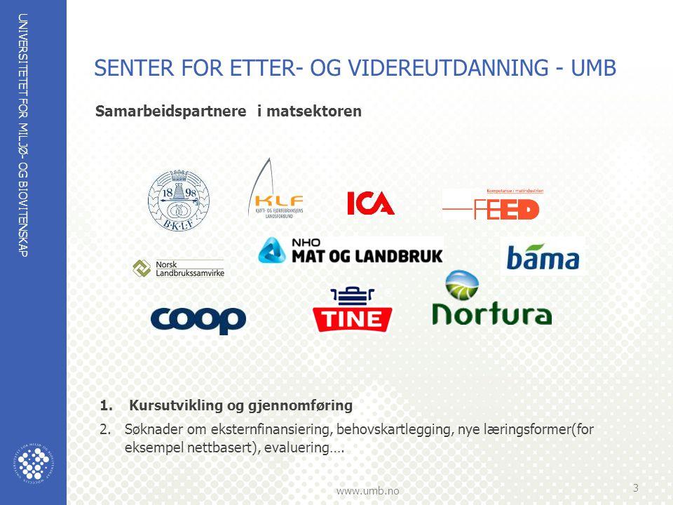 SENTER FOR ETTER- OG VIDEREUTDANNING - UMB