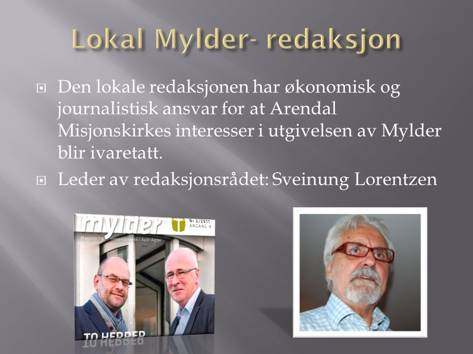 Lokal Mylder- redaksjon