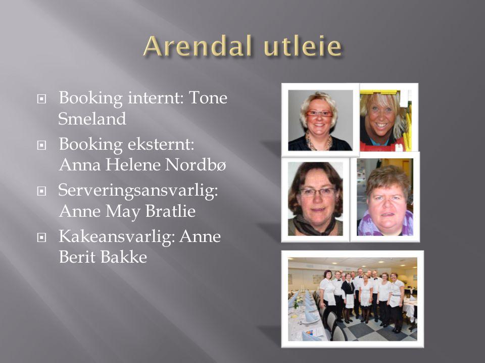 Arendal utleie Booking internt: Tone Smeland