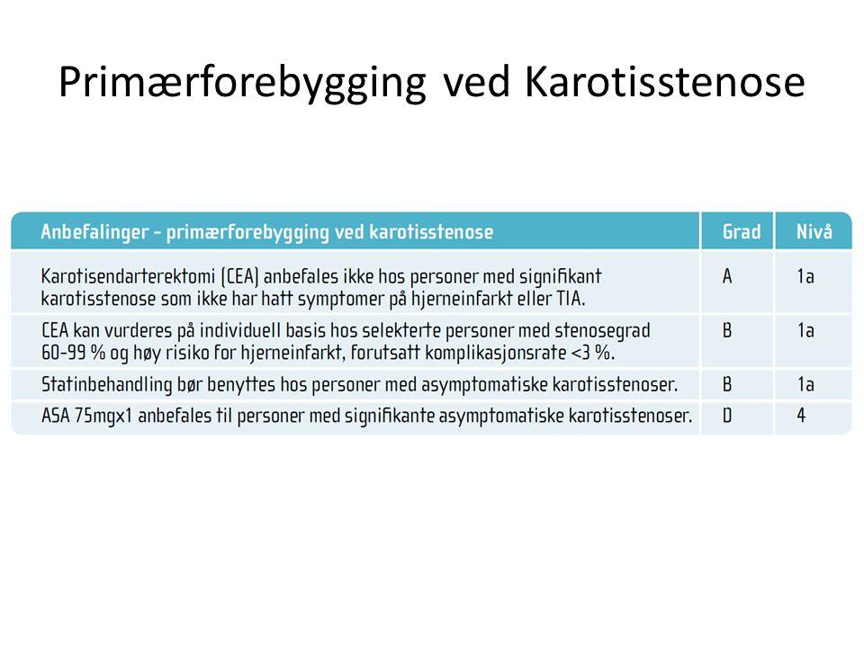 Primærforebygging ved Karotisstenose