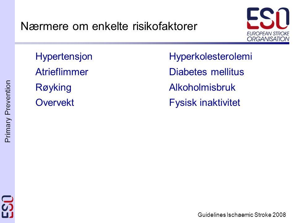 Nærmere om enkelte risikofaktorer