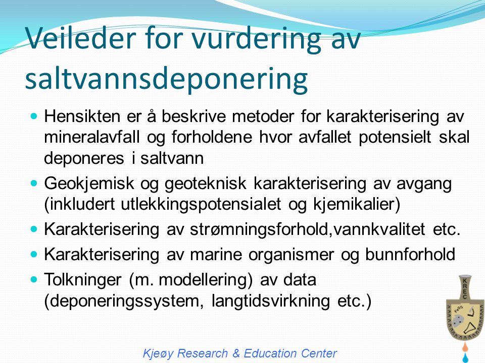 Veileder for vurdering av saltvannsdeponering