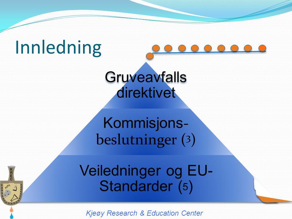 Innledning Gruveavfalls direktivet Kommisjons- beslutninger (3)