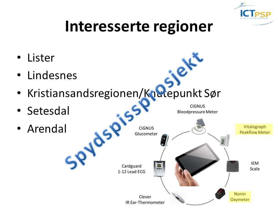 Interesserte regioner