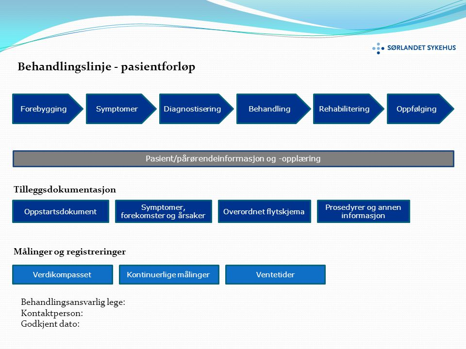 Behandlingslinje - pasientforløp