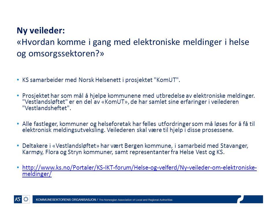 Ny veileder: «Hvordan komme i gang med elektroniske meldinger i helse og omsorgssektoren »