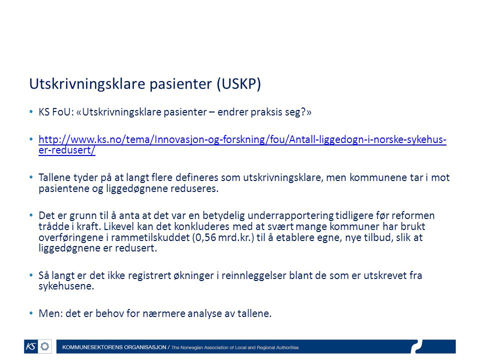 Utskrivningsklare pasienter (USKP)