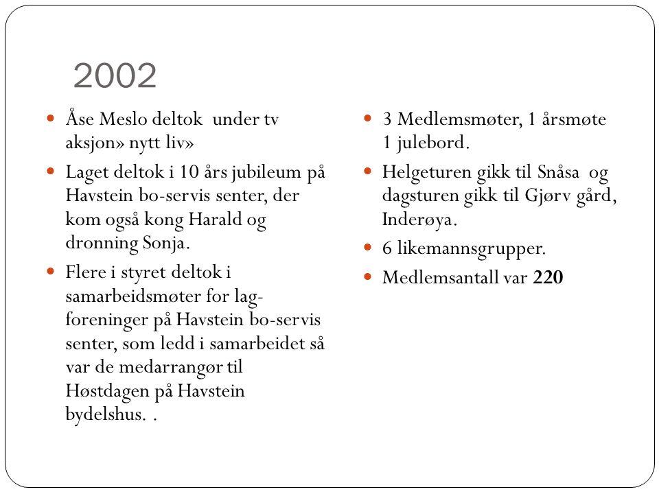 2002 Åse Meslo deltok under tv aksjon» nytt liv»