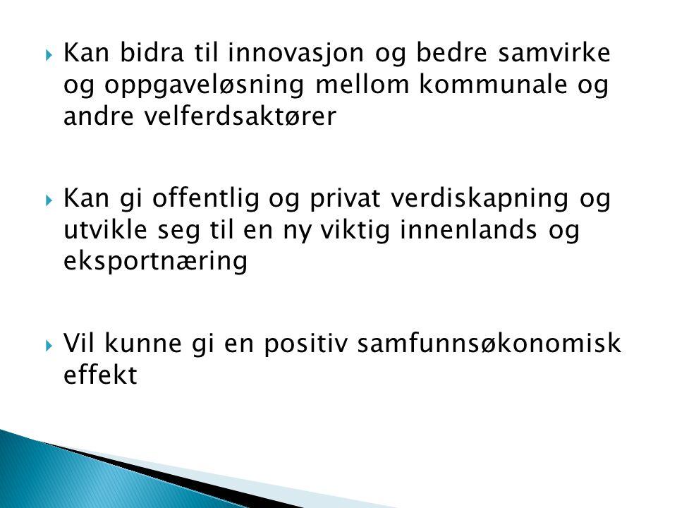 Kan bidra til innovasjon og bedre samvirke og oppgaveløsning mellom kommunale og andre velferdsaktører