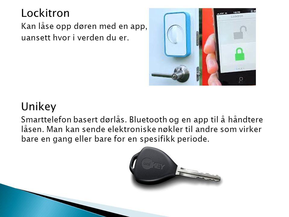 Lockitron Unikey Kan låse opp døren med en app,