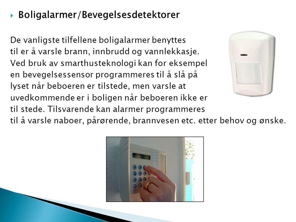Boligalarmer/Bevegelsesdetektorer