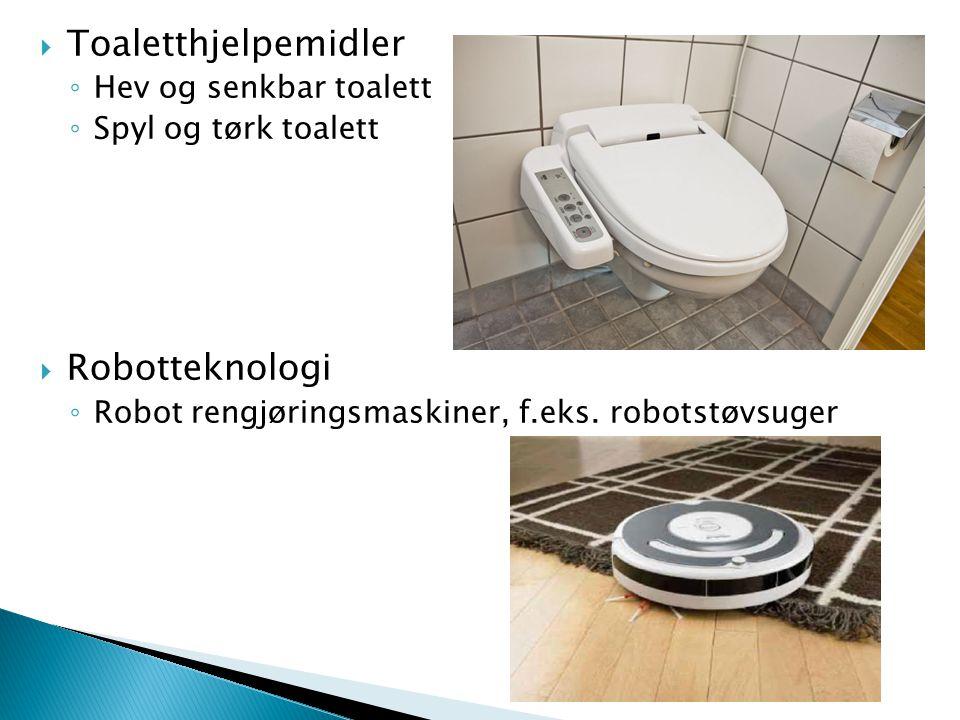 Toaletthjelpemidler Robotteknologi Hev og senkbar toalett