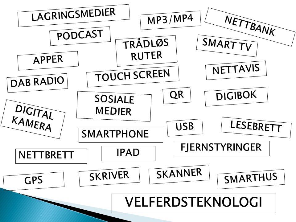 VELFERDSTEKNOLOGI LAGRINGSMEDIER MP3/MP4 NETTBANK PODCAST