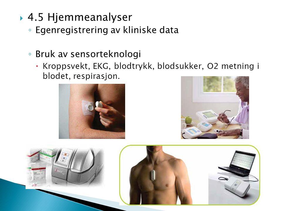 4.5 Hjemmeanalyser Egenregistrering av kliniske data