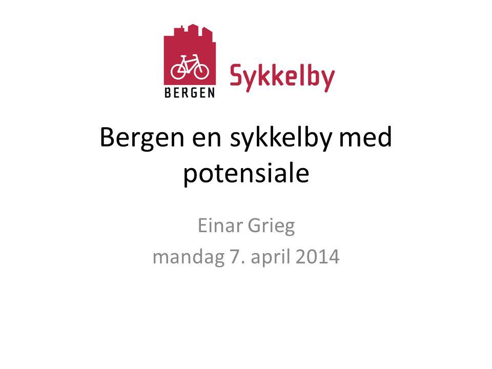 Bergen en sykkelby med potensiale