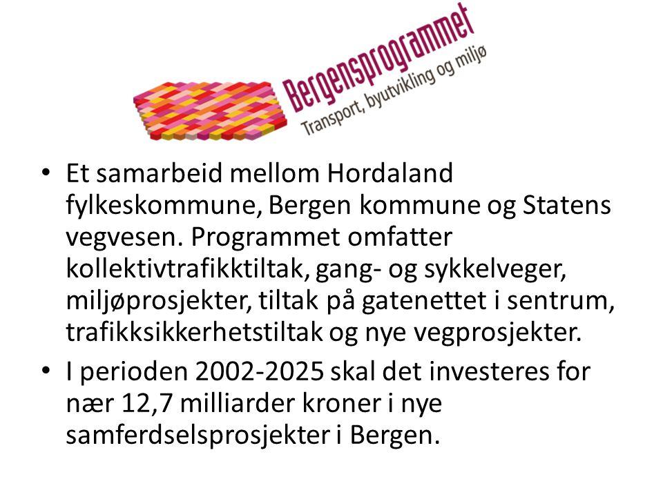 Et samarbeid mellom Hordaland fylkeskommune, Bergen kommune og Statens vegvesen. Programmet omfatter kollektivtrafikktiltak, gang- og sykkelveger, miljøprosjekter, tiltak på gatenettet i sentrum, trafikksikkerhetstiltak og nye vegprosjekter.