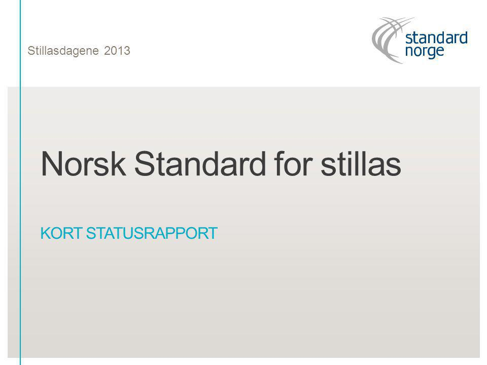 Norsk Standard for stillas