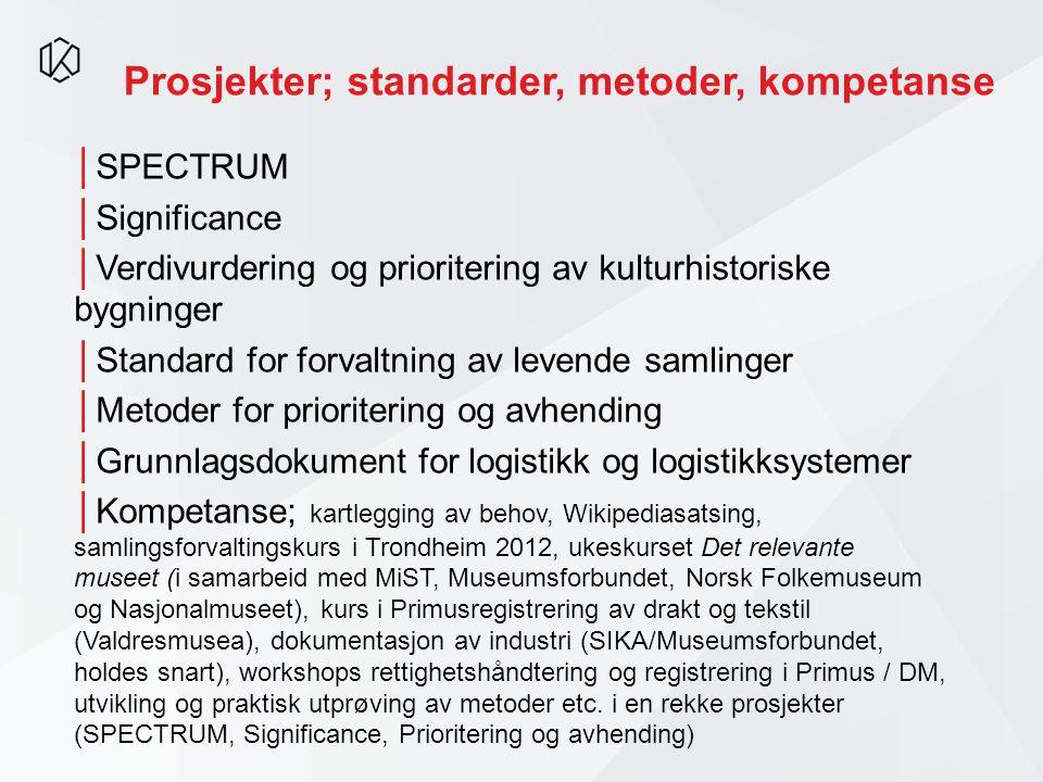 Prosjekter; standarder, metoder, kompetanse