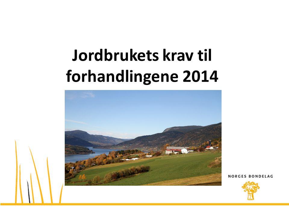 Jordbrukets krav til forhandlingene 2014