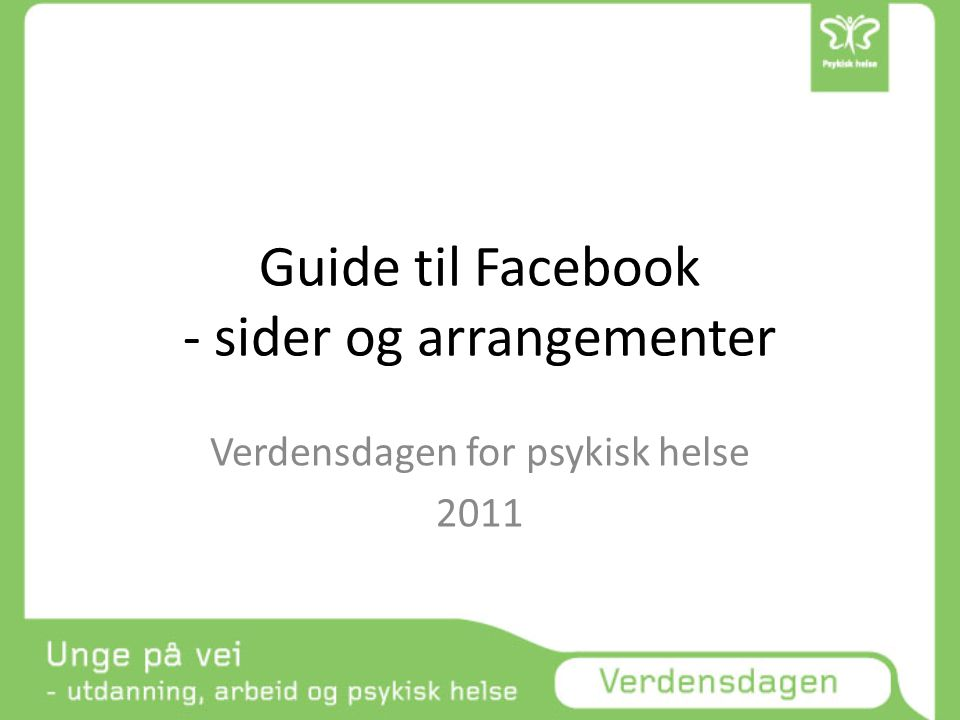 Guide til Facebook - sider og arrangementer