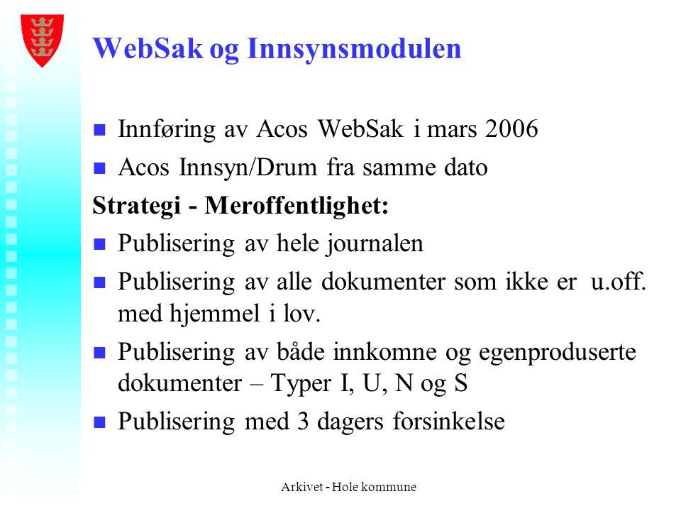 WebSak og Innsynsmodulen