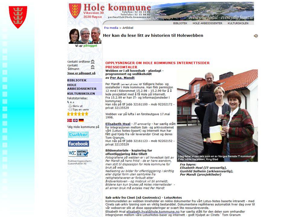 Foredragstittel - Ditt navn - Hole kommune
