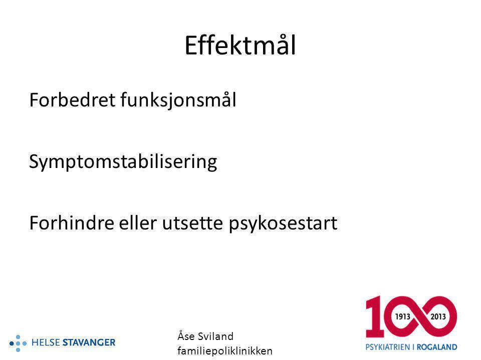 Effektmål Forbedret funksjonsmål Symptomstabilisering