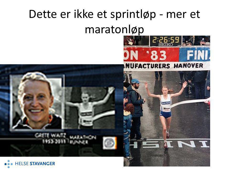 Dette er ikke et sprintløp - mer et maratonløp