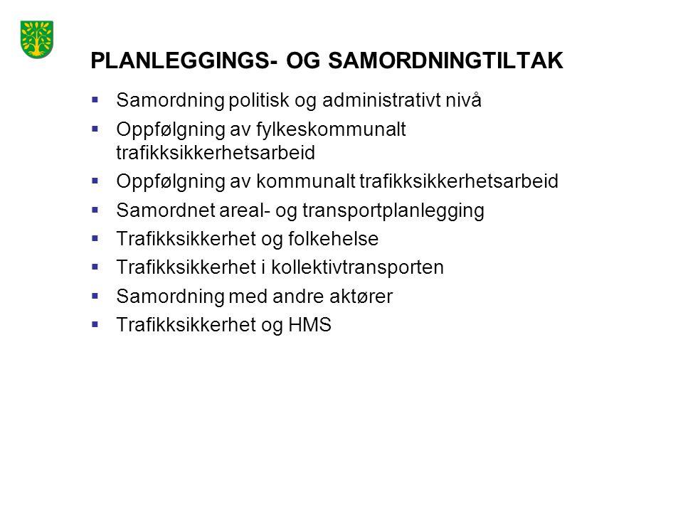 PLANLEGGINGS- OG SAMORDNINGTILTAK