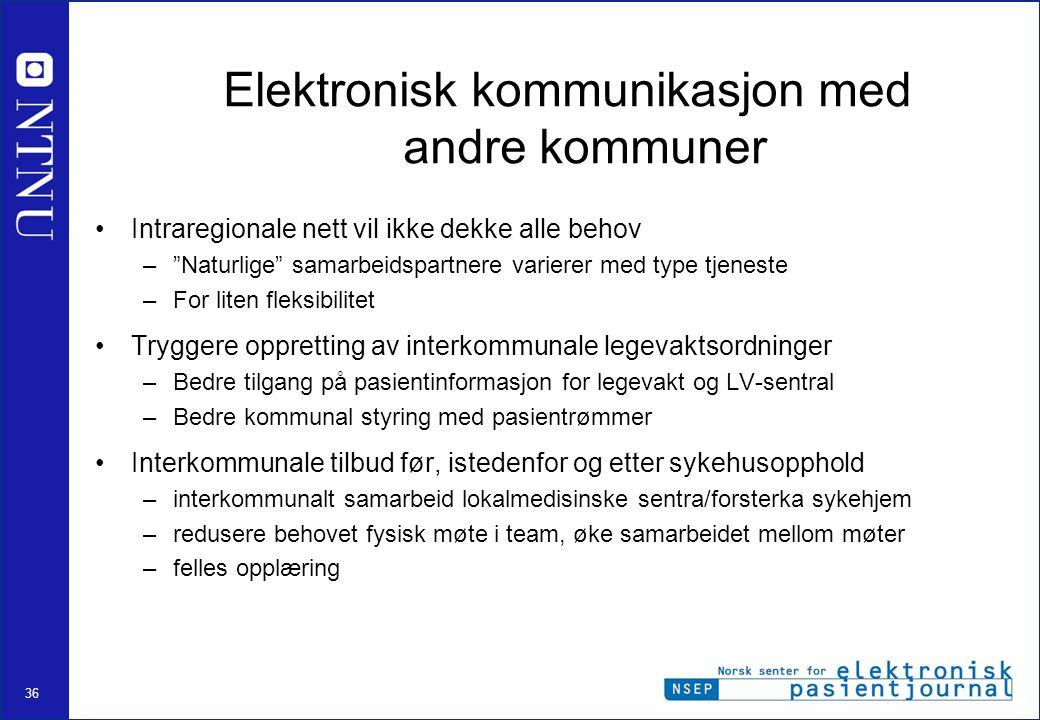 Elektronisk kommunikasjon med andre kommuner