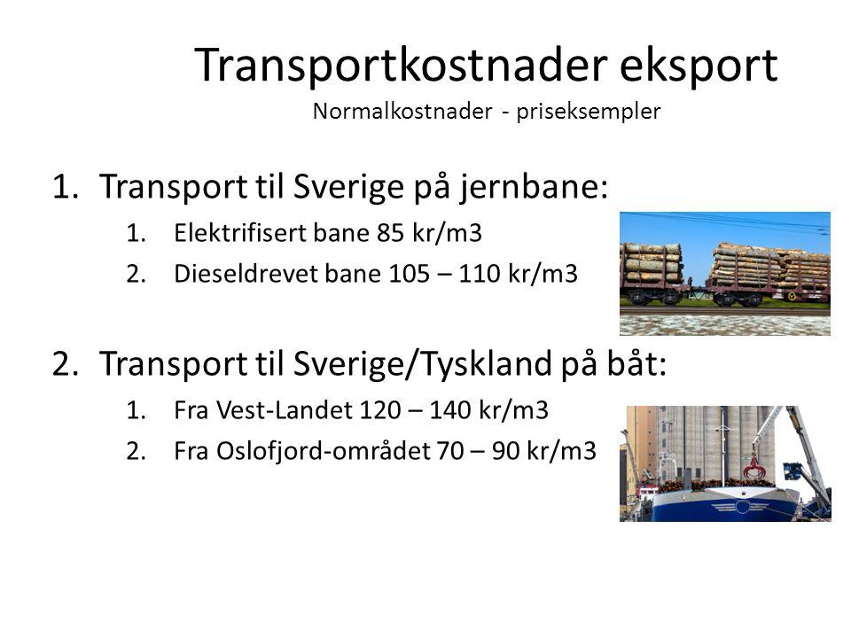 Transportkostnader eksport Normalkostnader - priseksempler