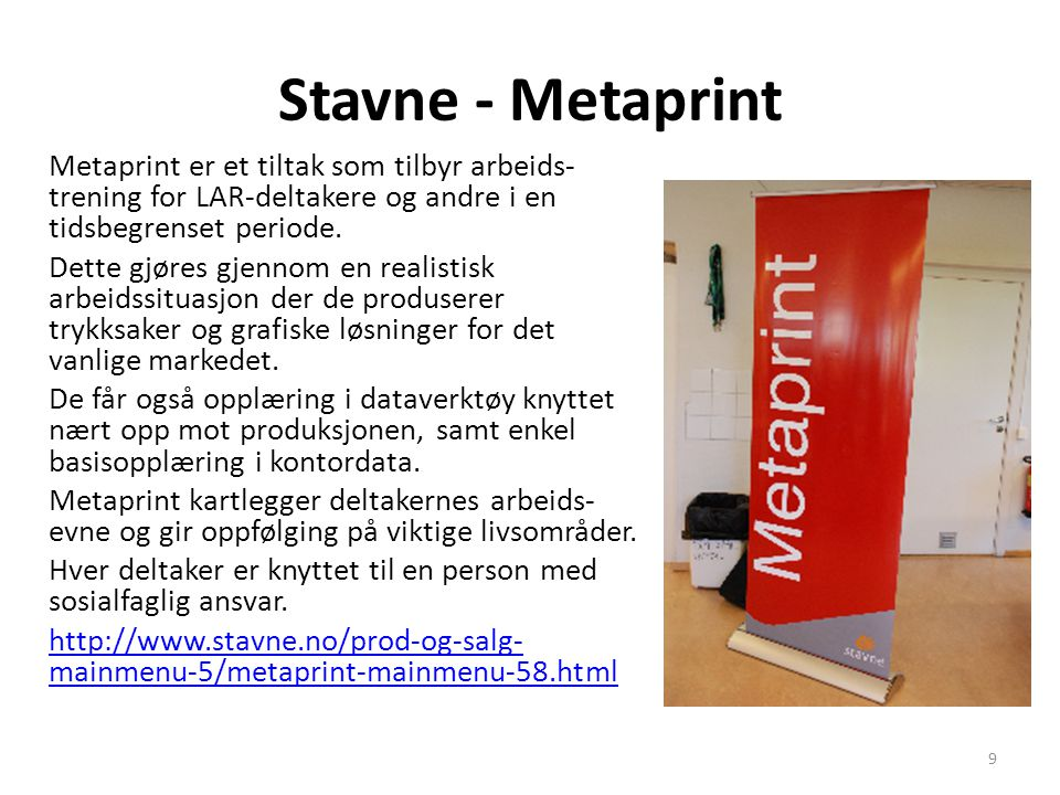Stavne - Metaprint