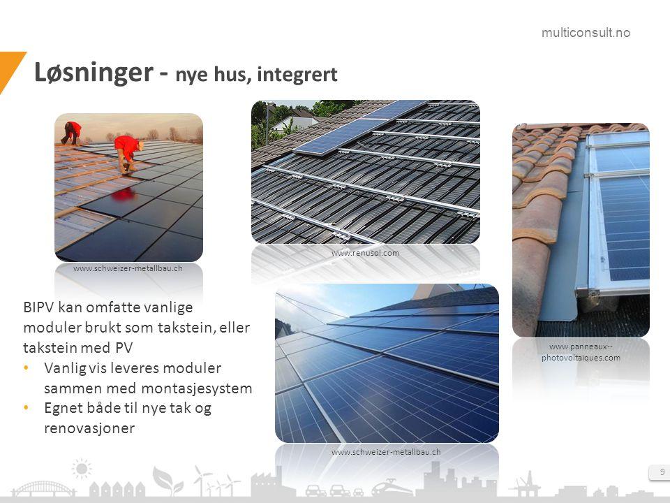 Løsninger - nye hus, integrert