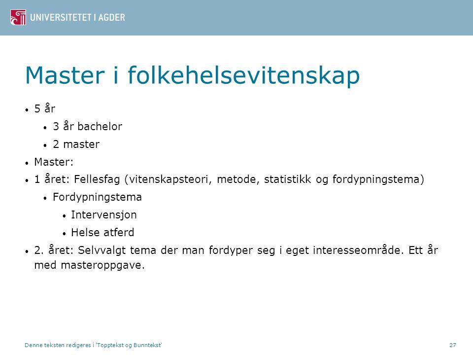Master i folkehelsevitenskap