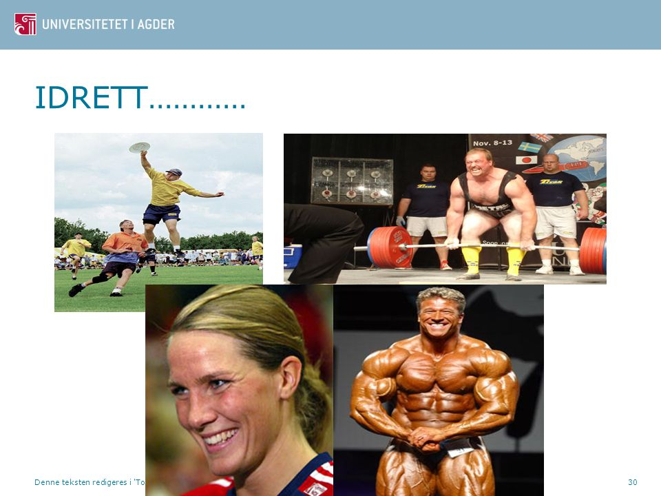 IDRETT………… e idrettsfaglig utdanning