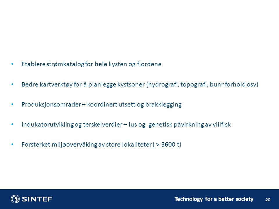 Etablere strømkatalog for hele kysten og fjordene