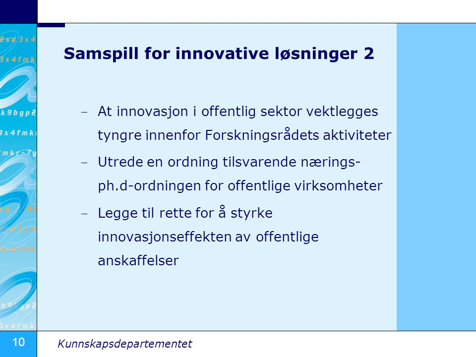 Samspill for innovative løsninger 2