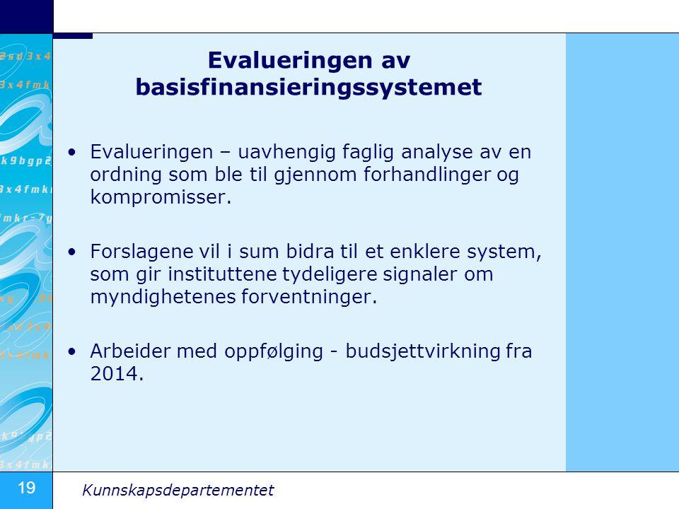 Evalueringen av basisfinansieringssystemet