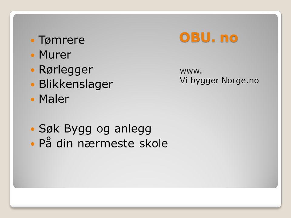 OBU. no Tømrere Murer Rørlegger Blikkenslager Maler Søk Bygg og anlegg