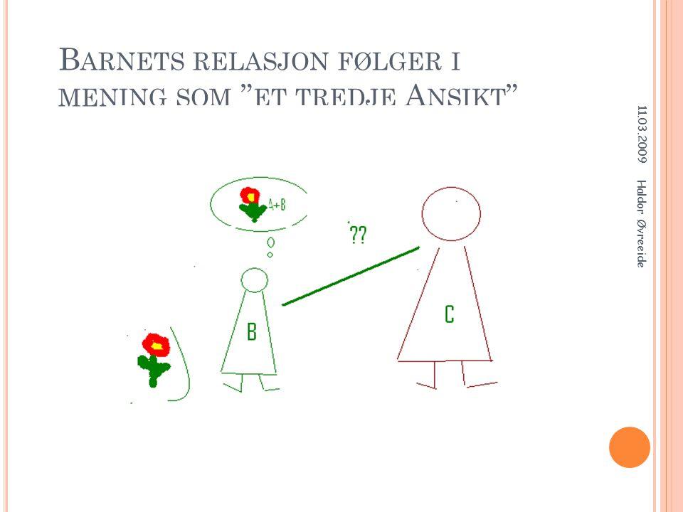Barnets relasjon følger i mening som et tredje Ansikt