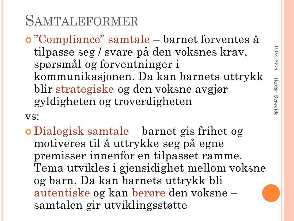 Samtaleformer