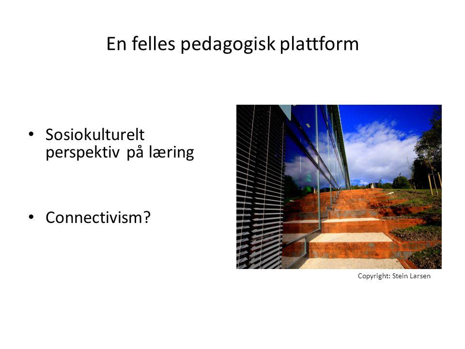 En felles pedagogisk plattform
