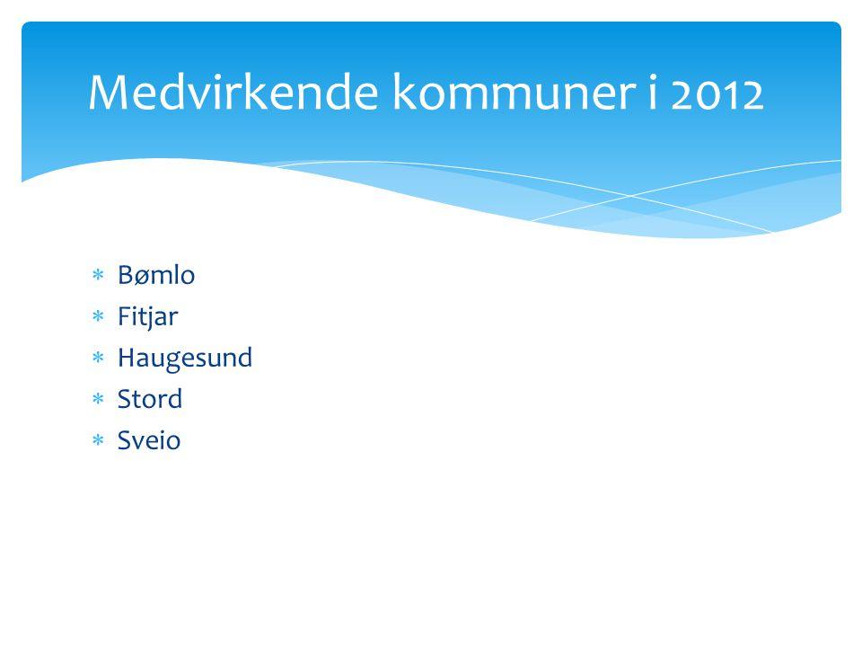 Medvirkende kommuner i 2012