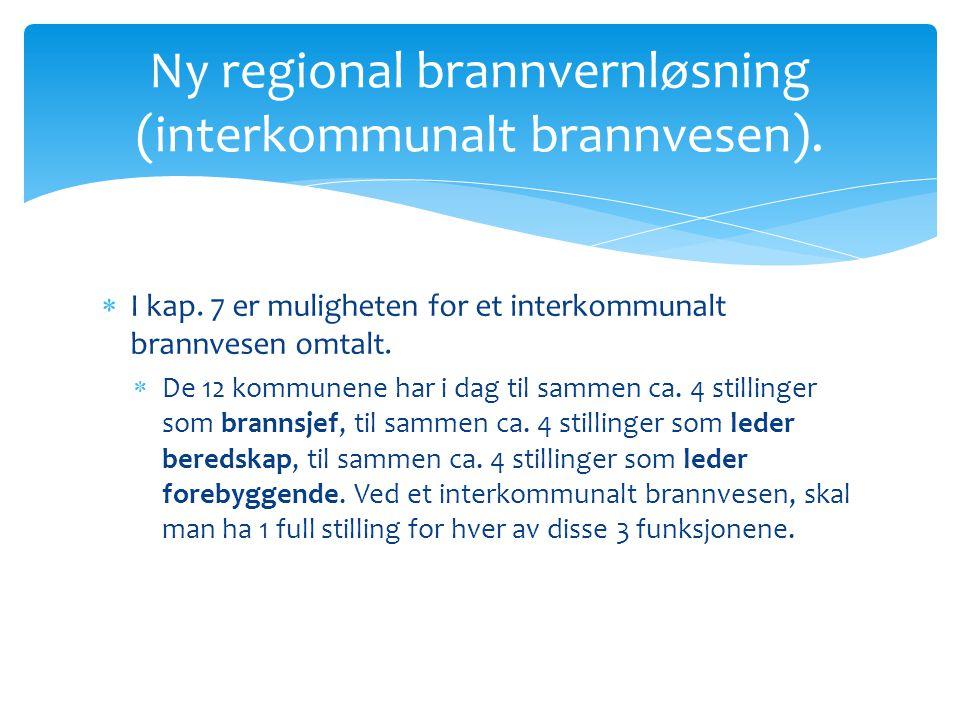 Ny regional brannvernløsning (interkommunalt brannvesen).