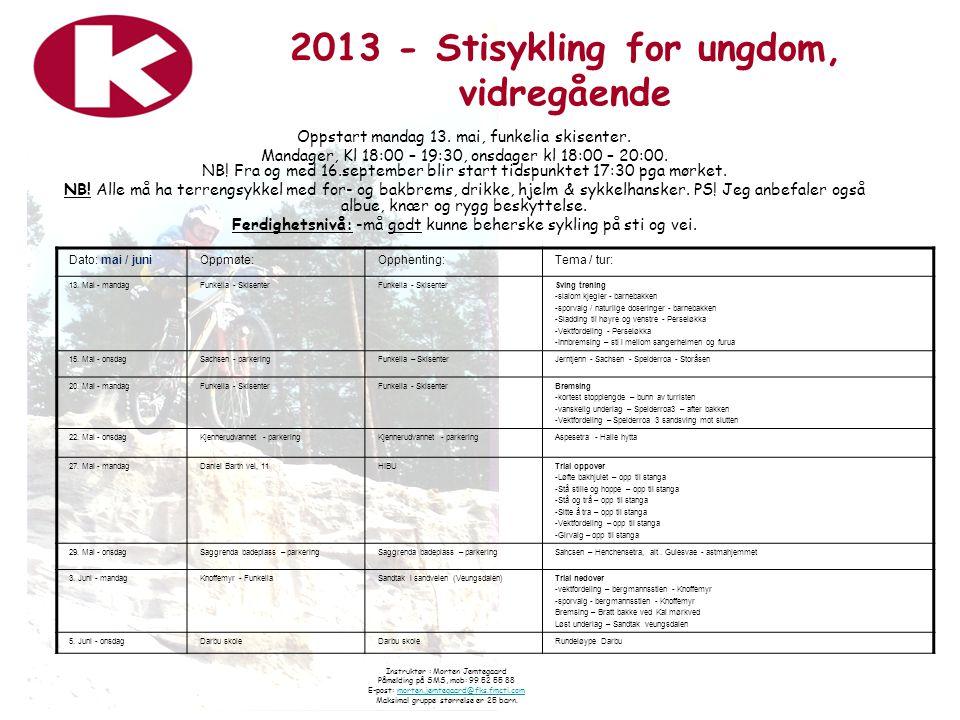 2013 - Stisykling for ungdom, vidregående
