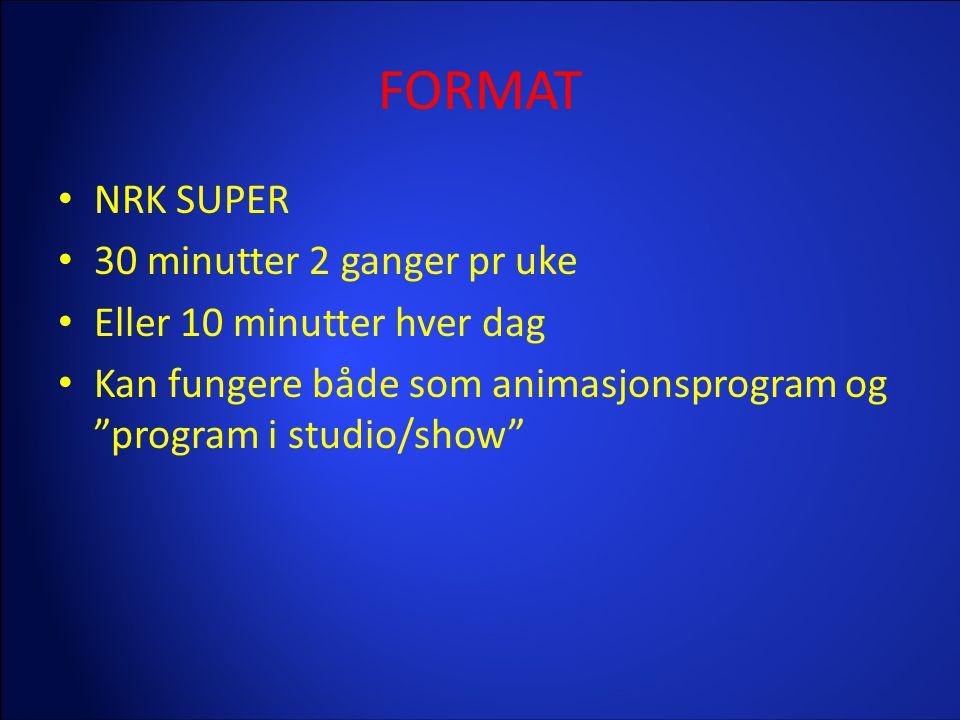 FORMAT NRK SUPER 30 minutter 2 ganger pr uke