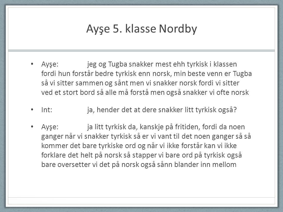 Ayşe 5. klasse Nordby